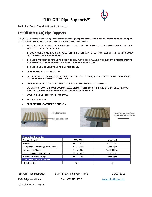 Technical Data Sheet - LOR rev 1